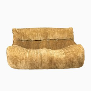 Mustard Gold Brown Sofa by Michel Ducaroy for Ligne Roset, 1970s
