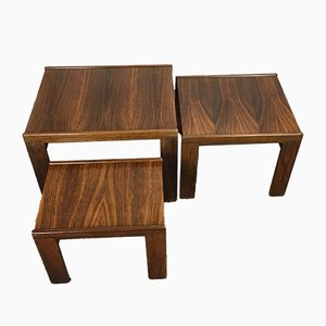 Rosewood Coffee Tables by Tobia & Afra Scarpa for Cassina, 1960s, Set of 3