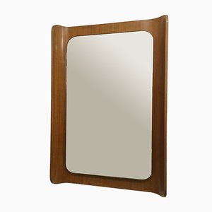 Bent Plywood-Framed Mirror, 1960s