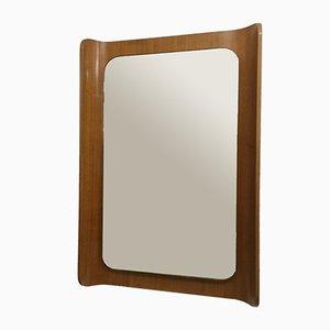 Spiegel mit geformtem Schichtholzrahmen, 1960er