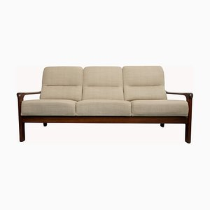 Mid-Century Beige 3-Seater Sofa, 1960s