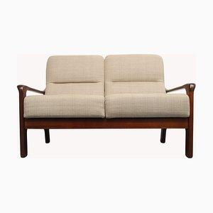 Mid-Century 2-Sitzer Sofa in Beige, 1960er