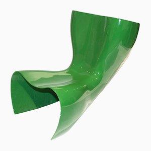 Poltrona in feltro verde di Marc Newson per Cappellini, anni '90