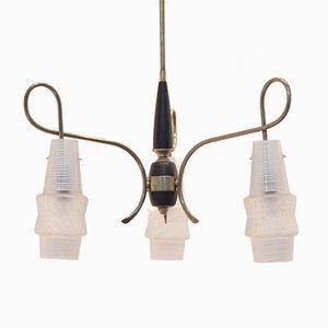 Lámpara colgante de recibidor italiana, años 50