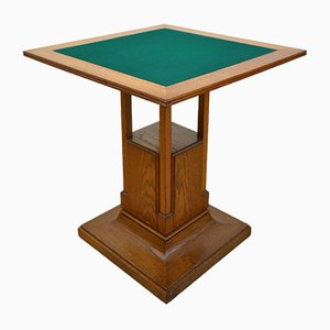 Italian Oak Game Table, 1920s