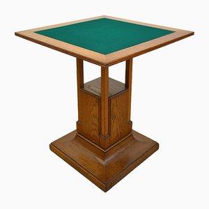 Mesa de juegos italiana de roble, años 20