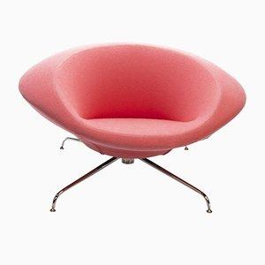 Pinker Kirk Sessel von René Holten für Artifort, 1990er