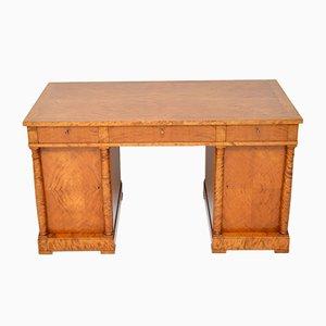 Schwedischer Biedermeier Schreibtisch aus Birkenholz, 1920er