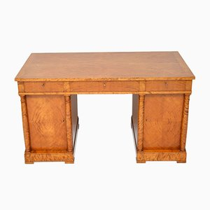 Swedish Biedermeier Satin Birch Desk, 1920s