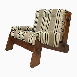 Vintage Sessel mit Gestell aus Teak