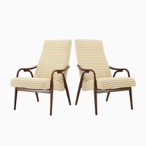 Czechoslovakian Beech Armchairs from TON, 1960s, Set of 2