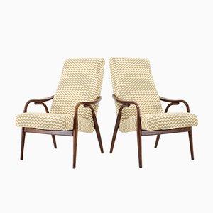 Tschechoslowakische Armlehnstühle aus Buche von TON, 1960er, 2er Set