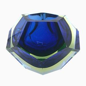 Glasschale von Flavio Poli für Seguso, 1960er
