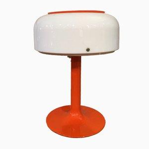 Lámpara de mesa en naranja y blanca de Anders Pherson, años 60