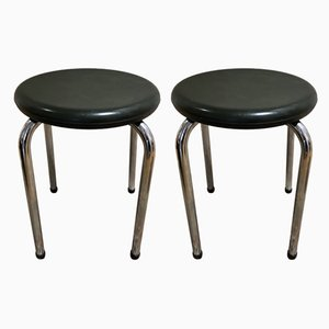 Green Bakelite Stools, 1940s, Set of 2