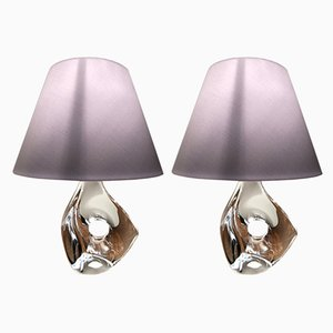 Model Lynx Crystal Table Lamps from Daum, 1950s, Set of 2