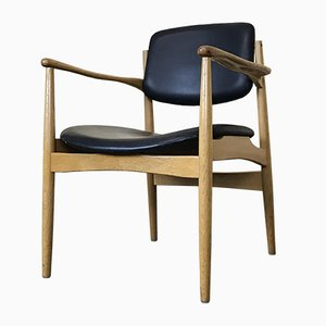 Danish Oak Armchair, 1960s