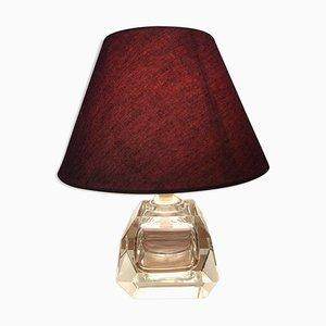 Tischlampe aus Kristallglas von Baccarat, 1950er