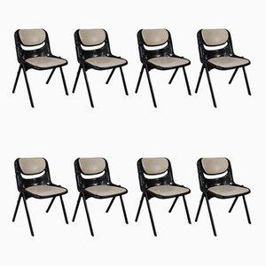 Chaises de Bureau Modèle Dorsal Empilable par G. Piretti et E. Ambasz pour Openark, années 80, Set de 8