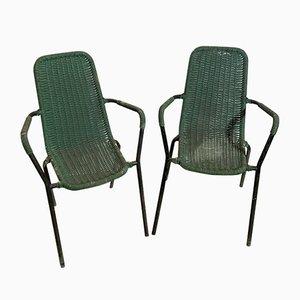 Italienische Mid-Century Barstühle, 2er Set
