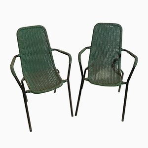 Mid-Century Italian Bar Chairs, Set of 2