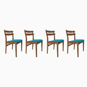 Dänische Mid-Century Esszimmerstühle aus Eiche, 1960er, 4er Set