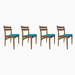 Mid-Century Danish Oak Dining Chairs, 1960s, Set of 4
