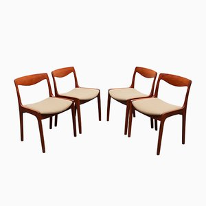 Teak Dining Chairs by Vilhelm Wohlert for Poul Jeppesens Møbelfabrik, 1956, Set of 4