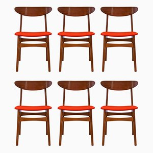 Danish Teak Dining Chairs from Falsled Mobelfabrik, 1960s, Set of 6