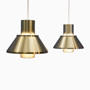 Danish Life Pendant Lamps by Johannes Hammerborg for Fog & Mørup, 1960s, Set of 2