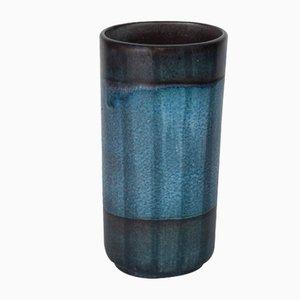 Dänische Keramikvase in Blau & Grün, 1970er