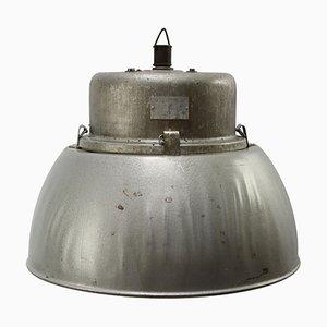 Mid-Century Gray Aluminum Ceiling Lamp