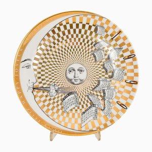 Dekorativer Teller von Piero Fornasetti, 1999