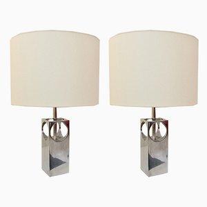 Lampes de Bureau Vintage en Aluminium, France, années 70, Set de 2