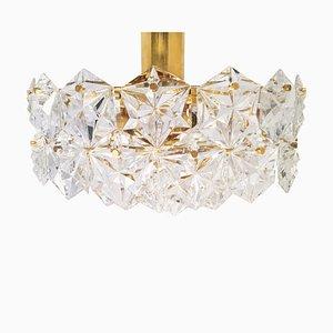 Deckenlampe aus Kristallglas von Kinkeldey, 1960er