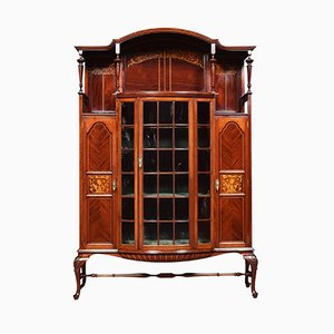 Antique Nouveau Display Cabinet by Shapland & Petter
