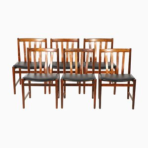 Rosewood Dining Chairs from Slagelse Møbelværk, 1960s, Set of 6