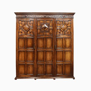 Antique Jacobean Style Oak Wardrobe