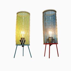 Rocket Tischlampen von Josef Hurka für Napako, 1960er, 2er Set