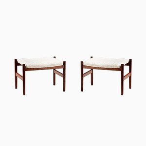 Danish Rosewood and Boucle Stools from Spøttrup, 1960s, Set of 2