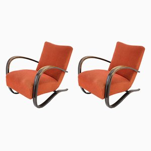 Model H-269 Armchairs by Jindřich Halabala, 1930s, Set of 2