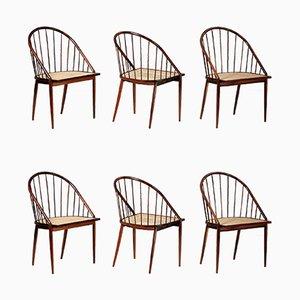Curva Esszimmerstühle aus Palisander von Joaquim Tenreiro, 1960er, 6er Set