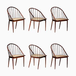 Curva Rosewood Dining Chairs by Joaquim Tenreiro, 1960s, Set of 6