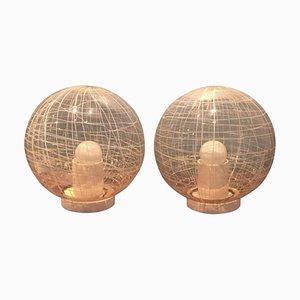 Große Tischlampen von Alfredo Barbini, 1960er, 2er Set