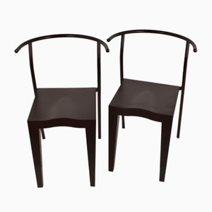 Model Dr. Glob Side Chairs by Philippe Starck for Kartell, 1980s, Set of 2