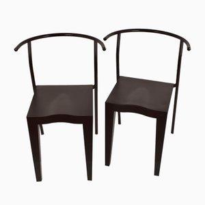 Modell Dr. Glob Beistellstühle von Philippe Starck, 1980er, 2er Set