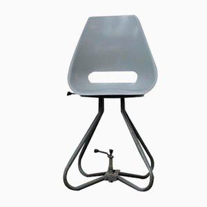 Grauer Stuhl mit Schale aus Glasfaser von Miroslav Navratil für Vertex, 1960er
