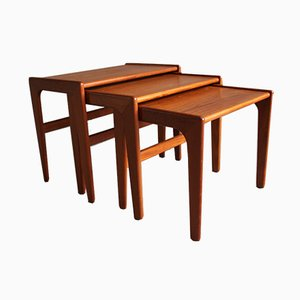 Mid-Century Danish Teak Nesting Tables from Salin Nyborg, 1960s