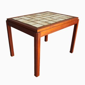 Mid-Century Danish Teak and Ceramic Coffee Table from Gangsø Møbler, 1960s