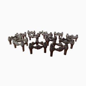 Kerzenständer von Ceasar Stoffi & Fritz Nagel für BMF, 1960er, 13er Set